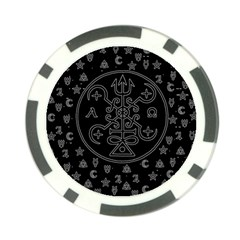 Witchcraft symbols  Poker Chip Card Guard
