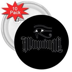Illuminati 3  Buttons (10 pack)