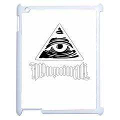 Illuminati Apple iPad 2 Case (White)