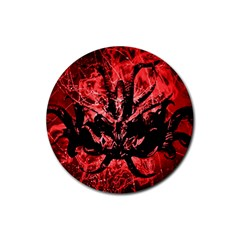 Scary Background Rubber Round Coaster (4 pack)