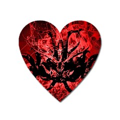 Scary Background Heart Magnet