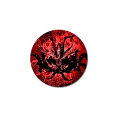 Scary Background Golf Ball Marker