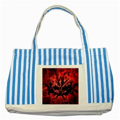 Scary Background Striped Blue Tote Bag