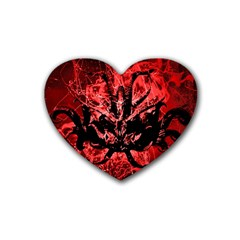 Scary Background Heart Coaster (4 pack)