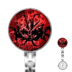 Scary Background Stainless Steel Nurses Watch