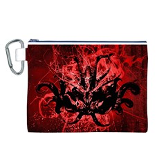 Scary Background Canvas Cosmetic Bag (L)
