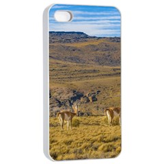 Group Of Vicunas At Patagonian Landscape, Argentina Apple iPhone 4/4s Seamless Case (White)