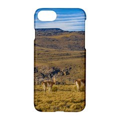Group Of Vicunas At Patagonian Landscape, Argentina Apple Iphone 7 Hardshell Case
