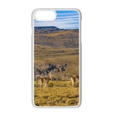 Group Of Vicunas At Patagonian Landscape, Argentina Apple Iphone 7 Plus White Seamless Case