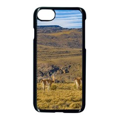 Group Of Vicunas At Patagonian Landscape, Argentina Apple Iphone 7 Seamless Case (black)