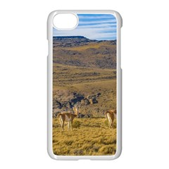 Group Of Vicunas At Patagonian Landscape, Argentina Apple Iphone 7 Seamless Case (white)