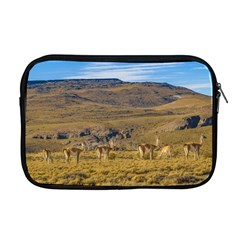 Group Of Vicunas At Patagonian Landscape, Argentina Apple Macbook Pro 17  Zipper Case