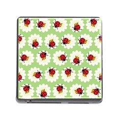 Ladybugs Pattern Memory Card Reader (Square)