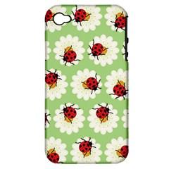 Ladybugs Pattern Apple iPhone 4/4S Hardshell Case (PC+Silicone)