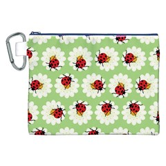 Ladybugs Pattern Canvas Cosmetic Bag (XXL)