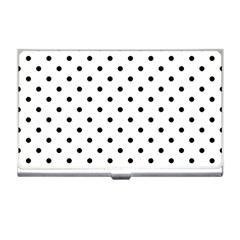 Classic Large Black Polkadot on White Business Card Holders