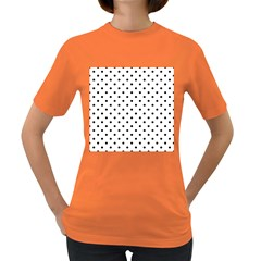 Classic Large Black Polkadot on White Women s Dark T-Shirt