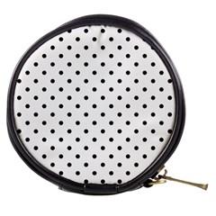 Classic Large Black Polkadot on White Mini Makeup Bags