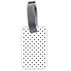 Classic Large Black Polkadot on White Luggage Tags (Two Sides)