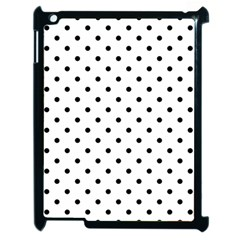 Classic Large Black Polkadot on White Apple iPad 2 Case (Black)