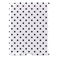 Classic Large Black Polkadot on White Apple iPad 3/4 Hardshell Case (Compatible with Smart Cover)