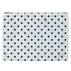 Classic Large Black Polkadot on White Cosmetic Bag (XXL)