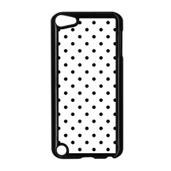 Classic Large Black Polkadot on White Apple iPod Touch 5 Case (Black)