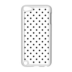 Classic Large Black Polkadot on White Apple iPod Touch 5 Case (White)