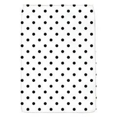 Classic Large Black Polkadot on White Flap Covers (S)