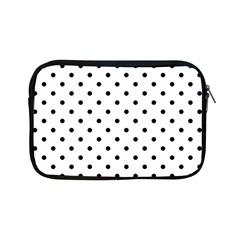 Classic Large Black Polkadot on White Apple iPad Mini Zipper Cases