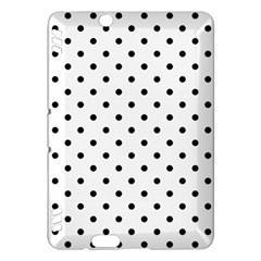 Classic Large Black Polkadot on White Kindle Fire HDX Hardshell Case