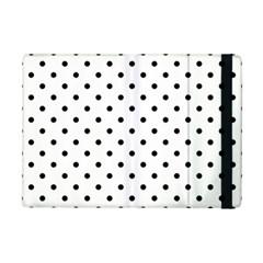 Classic Large Black Polkadot on White iPad Mini 2 Flip Cases