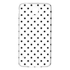 Classic Large Black Polkadot on White Samsung Galaxy S5 Back Case (White)