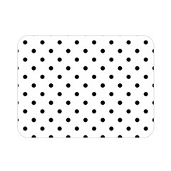 Classic Large Black Polkadot on White Double Sided Flano Blanket (Mini)