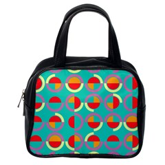 Semicircles And Arcs Pattern Classic Handbags (One Side)