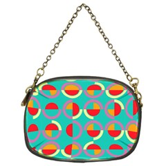 Semicircles And Arcs Pattern Chain Purses (Two Sides)