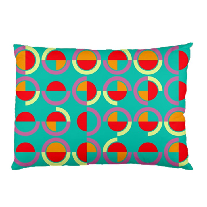 Semicircles And Arcs Pattern Pillow Case
