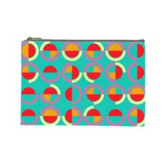 Semicircles And Arcs Pattern Cosmetic Bag (Large)