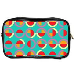 Semicircles And Arcs Pattern Toiletries Bags