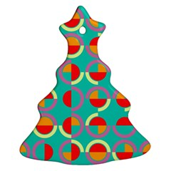 Semicircles And Arcs Pattern Christmas Tree Ornament (Two Sides)