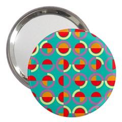Semicircles And Arcs Pattern 3  Handbag Mirrors