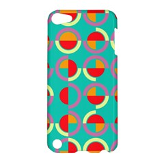 Semicircles And Arcs Pattern Apple iPod Touch 5 Hardshell Case