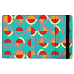 Semicircles And Arcs Pattern Apple iPad 2 Flip Case