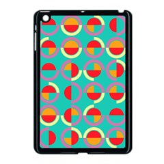 Semicircles And Arcs Pattern Apple iPad Mini Case (Black)