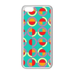 Semicircles And Arcs Pattern Apple iPhone 5C Seamless Case (White)