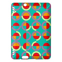Semicircles And Arcs Pattern Kindle Fire HDX Hardshell Case