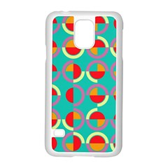 Semicircles And Arcs Pattern Samsung Galaxy S5 Case (White)