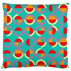 Semicircles And Arcs Pattern Large Flano Cushion Case (Two Sides)