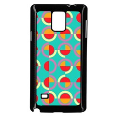 Semicircles And Arcs Pattern Samsung Galaxy Note 4 Case (Black)