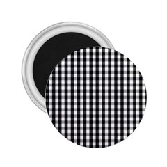 Small Black White Gingham Checked Square Pattern 2.25  Magnets